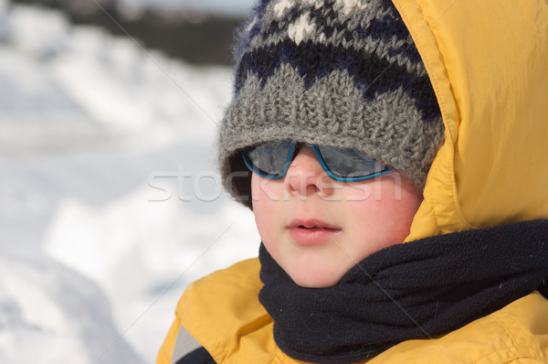 Boy in the snow Stock photo © Talanis