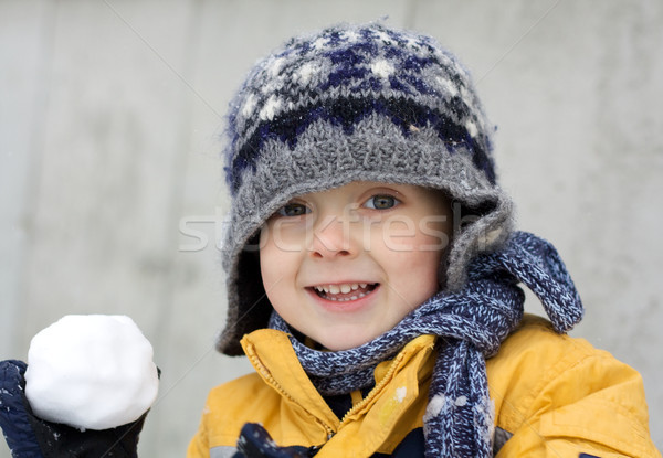 First snow excitement Stock photo © Talanis