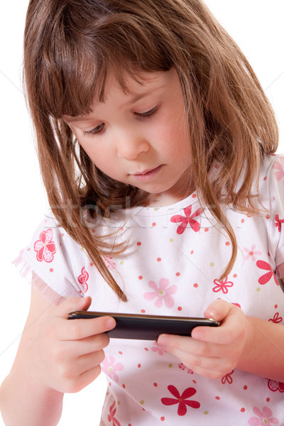 Girl playing video game Stock photo © Talanis
