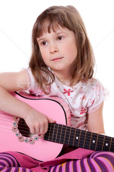ギタリスト かわいい 女の子 ギター ストックフォト © Talanis