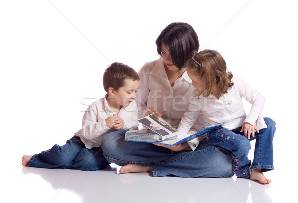 Cute семьи матери дочь сын глядя Сток-фото © Talanis
