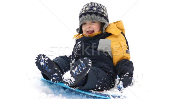 冬 楽しい 少年 笑顔 スポーツ ストックフォト © Talanis