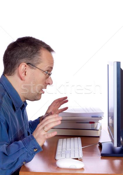 Surprised computer guy Stock photo © Talanis