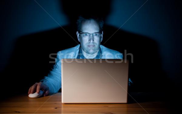 компьютер парень человека рабочих поздно работу Сток-фото © Talanis