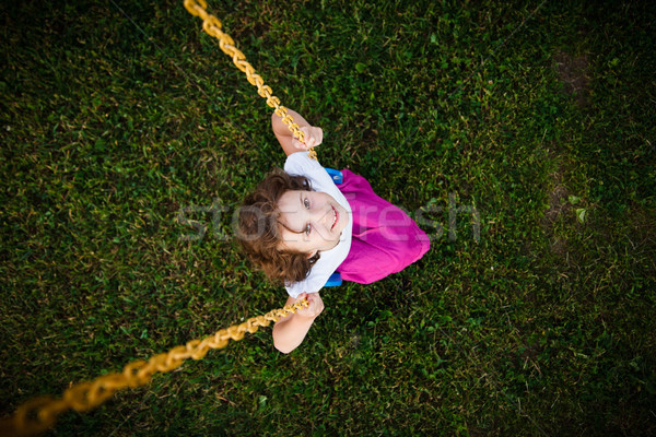 Girl on a swing Stock photo © Talanis