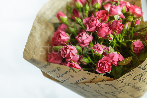 background of the many delicate little pink roses Stock photo © TanaCh
