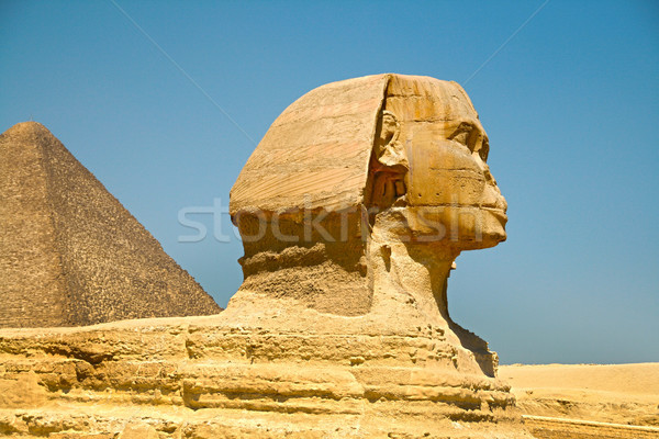 The Pyramids and the Sphinx at Giza. Egypt. September 2008 Stock photo © TanaCh