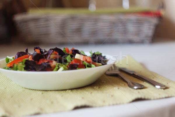 サラダ 表 クローズアップ 食品 葉 ストックフォト © TanaCh