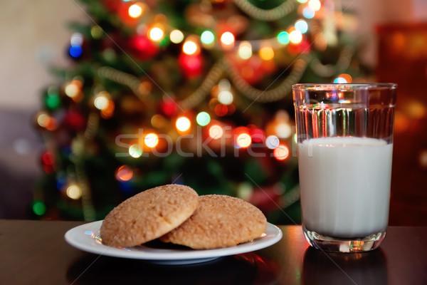 クリスマス クッキー ミルク 注記 サンタクロース 光 ストックフォト © TanaCh