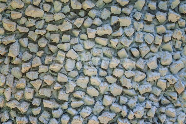 古い 石の壁 青 塗料 テクスチャ 壁 ストックフォト © TanaCh