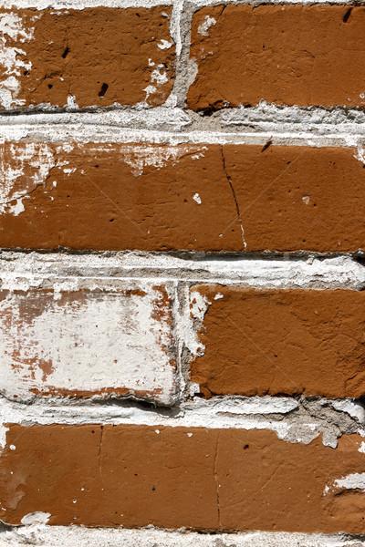 Oude gebroken muur huis gebouw stad Stockfoto © TanaCh