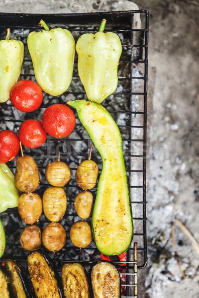 Gegrild koken voedsel zomer Stockfoto © TanaCh