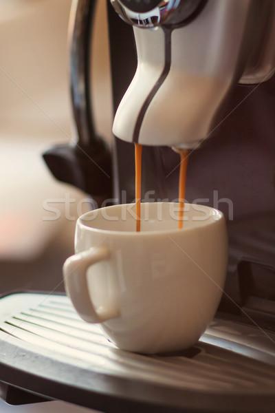 ストックフォト: 白 · カップ · 立って · コーヒー