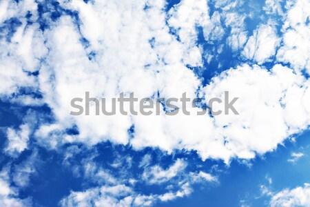Bianco soffice nubi cielo blu cielo primavera Foto d'archivio © TanaCh