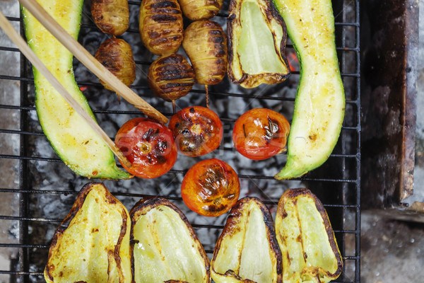 Grelhado cozinhar ver comida verão Foto stock © TanaCh