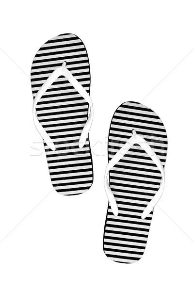 0aa82257865d6  9003354 Striped rubber flip flops