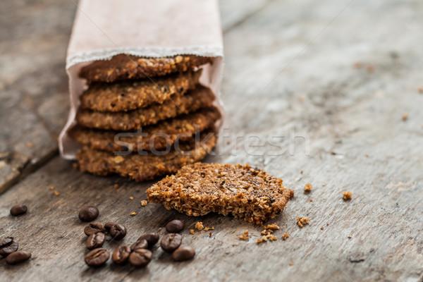 コーヒー クッキー 紙袋 表 レストラン 袋 ストックフォト © TanaCh