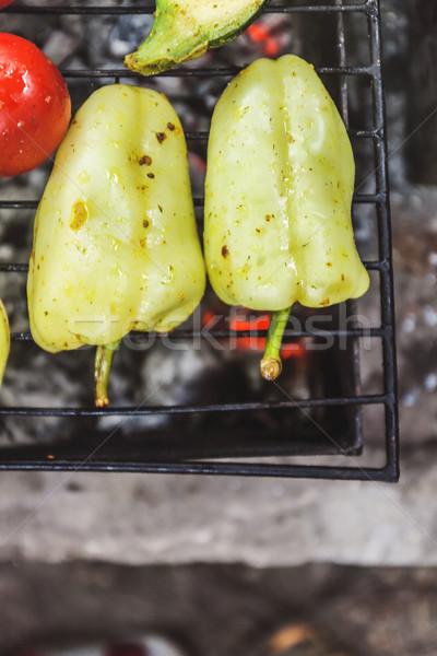 焼き 料理 表示 食品 夏 ストックフォト © TanaCh