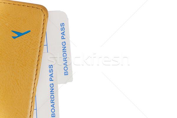 паспорта плоскости билеты изолированный бумаги Сток-фото © TanaCh