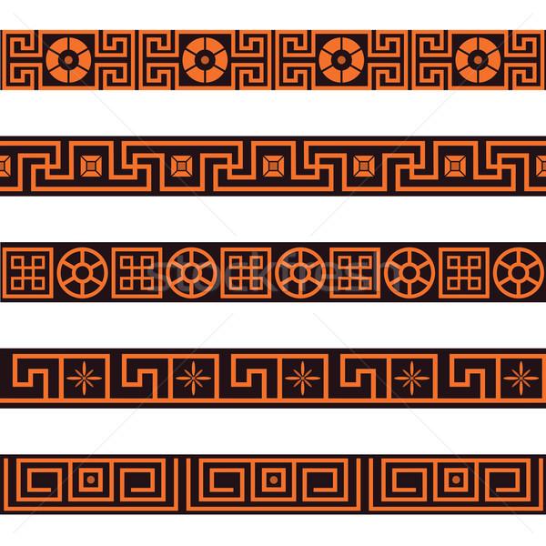 set of seamless  borders Stock photo © tanais