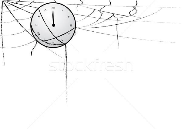 Saat örümcek ağı iş soyut arka plan web Stok fotoğraf © tanais