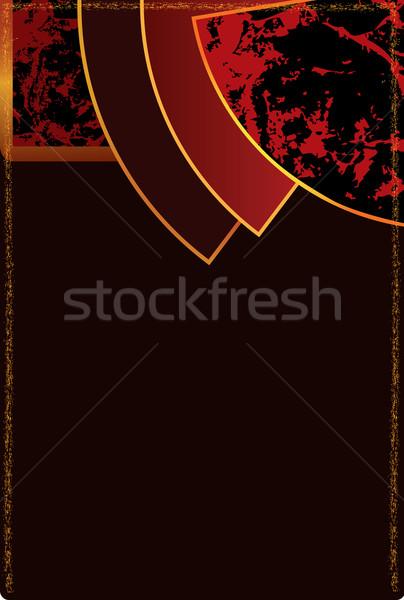 Resumen art deco fondo oro ilustración marrón Foto stock © tanais