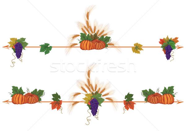 vine, ears and pumpkins Stock photo © tanais