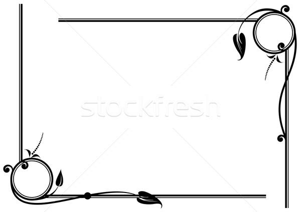 set of floral vignettes Stock photo © tanais