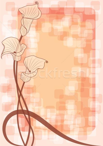 Floreale beige colori abstract sfondo silhouette Foto d'archivio © tanais