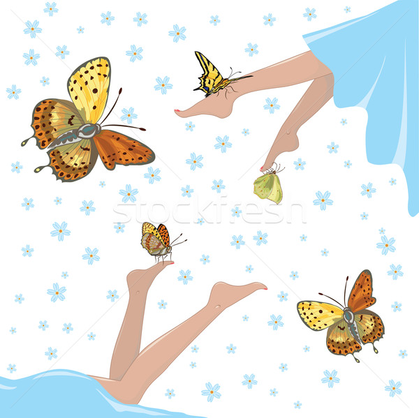 health, lightness and butterflies Stock photo © tanais