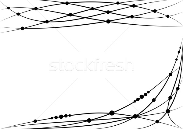 set of vector vignette Stock photo © tanais