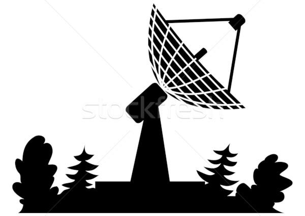 Radar ilustracja czarny kolor technologii podpisania Zdjęcia stock © tanais