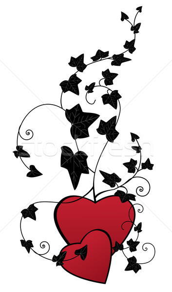 Klimop harten Valentijn vector tak liefde Stockfoto © tanais