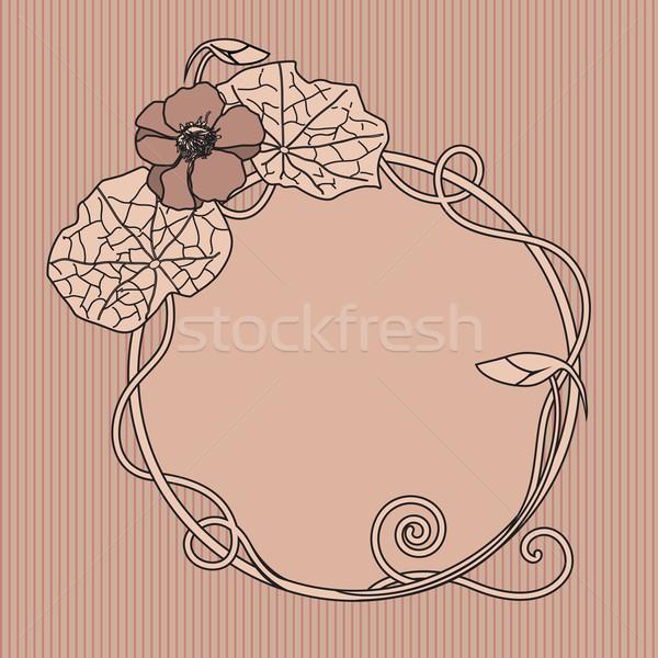 Quadro art noveau floral flor fundo folhas Foto stock © tanais