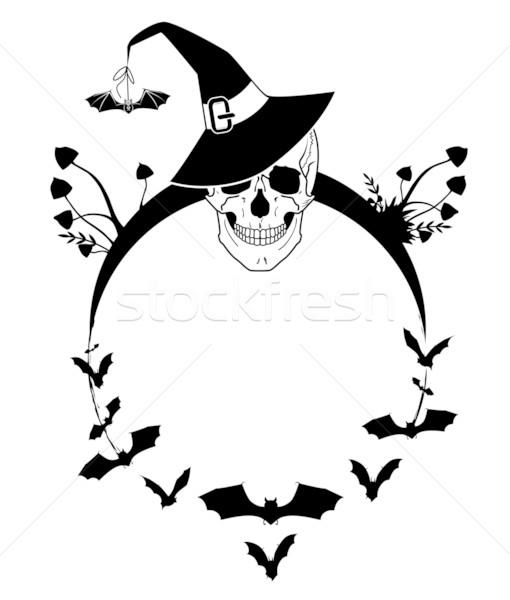 Halloween örnek kafatası vektör arka plan kafa Stok fotoğraf © tanais