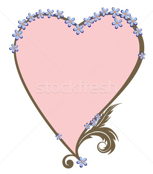 Valentin cadre vecteur amour fond rose Photo stock © tanais