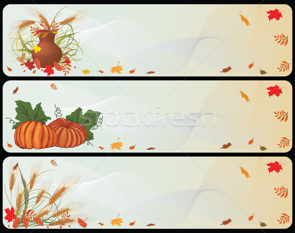 set of autumnal banners Stock photo © tanais