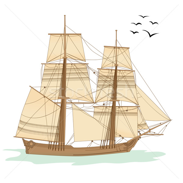 tall ship Stock photo © tanais