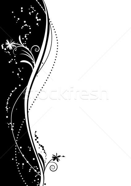 Virágmintás vektor absztrakt feketefehér szín háttér Stock fotó © tanais