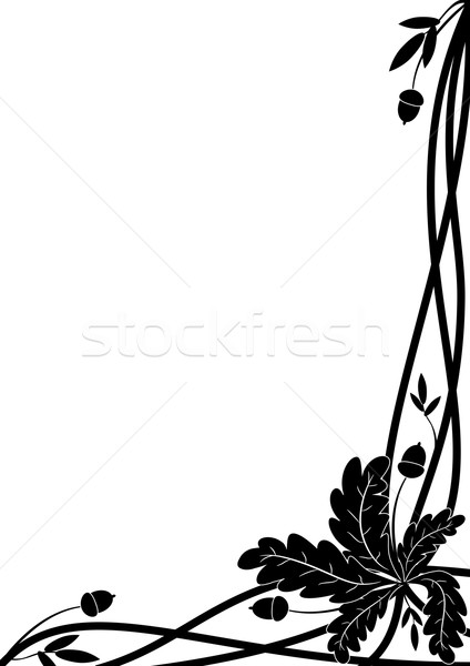 oak border Stock photo © tanais