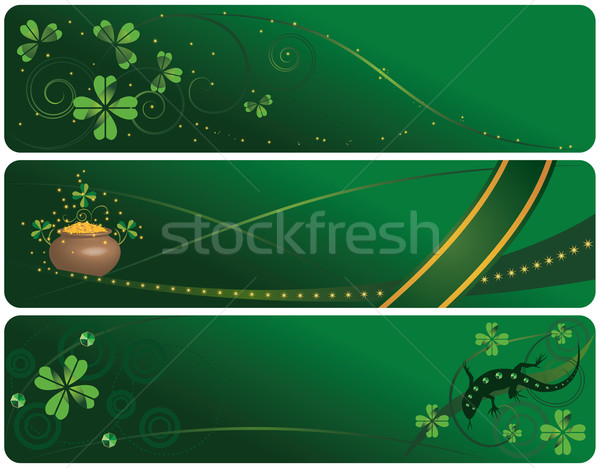 set of  St. Patrick's Day banners Stock photo © tanais