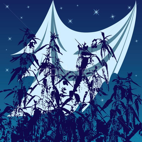 Fantasma halloween illustrazione phantom abstract notte Foto d'archivio © tanais