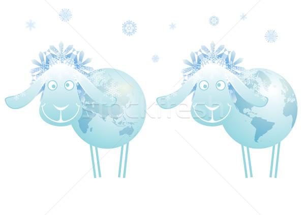 羊 2015 世界中 地図 にログイン ストックフォト © tanais