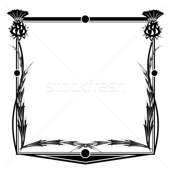 frame with thistle Stock photo © tanais