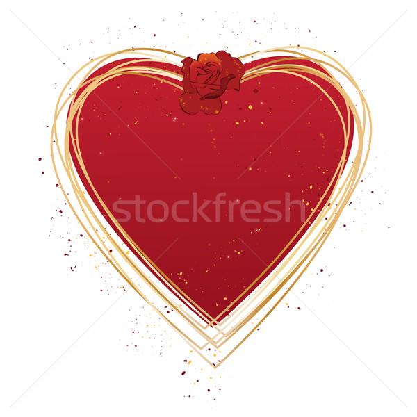 кадр вектора закрывается сердце любви аннотация Сток-фото © tanais