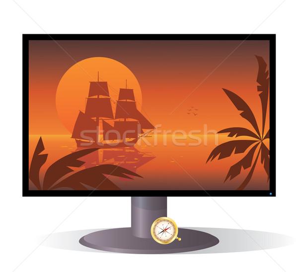 monitor and tall ship  Stock photo © tanais