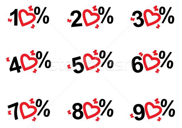 Szett ár címkék vektor illusztrációk árengedmény Stock fotó © tanais