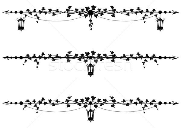 Sarmaşık sınır ayarlamak vektör Stok fotoğraf © tanais