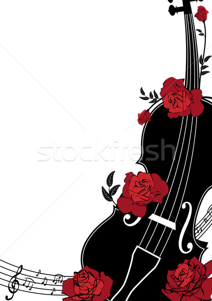 Stock photo: Vector floral musical composition
