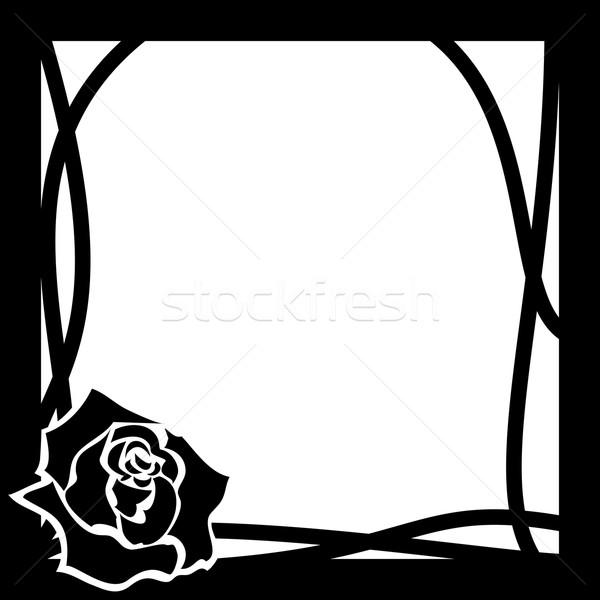 vector frame whith rose Stock photo © tanais